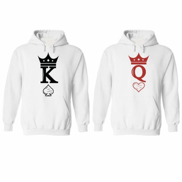 Couple Hoodies Set, Gift for him and her Matching Newlywed Anniversary Wedding Couples Hoodie Shirts