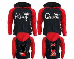 King and Queen Hoodies, Matching Couple Hoodies, His and Her Hoodies