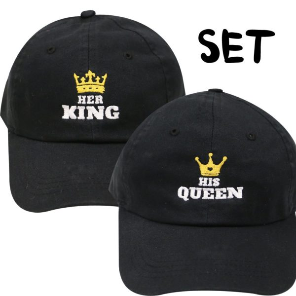 City Hunter His Queen and Her King Couple Set Baseball Caps (2 Pcs)