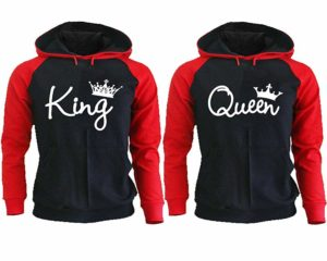 King and Queen Hoodies - Couple Hoodies Set - Matching Couple Hoodies