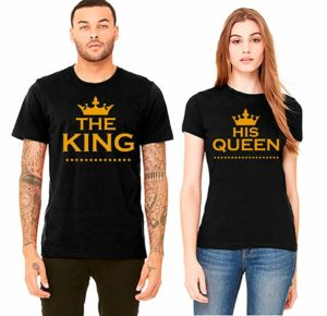 Matching Shirts for Couples King & Queen, Beauty & Beast, Mr. & Mrs. Papa Bear & Mama Bear and Pizza T Shirt