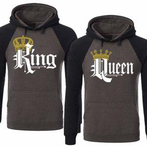 4c1f193153 Buy on Sunfrog · SR Couple Matching King Queen Crown Two Tone Raglan Hoodie  Pullover Hooded Sweatshirt