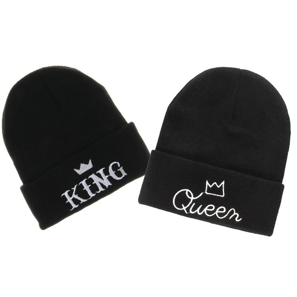 d311e0b15 Couples Fashion King and Queen Winter Warm Knit Skull Cap – King and ...