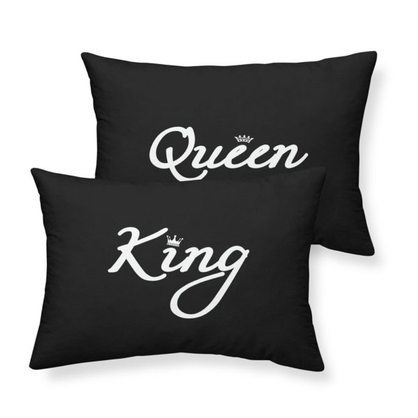 Rhap Couple Pillowcases King Size, Black King & Queen Printed King Size Couples Pillow Cover, Romantic Wedding Valentine's Day Surprise for Lovers