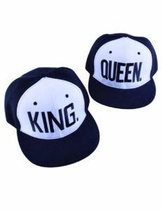 King Queen Hats Matching Snapbacks Hip Hop Hats Couples Snapback Caps Adjustable