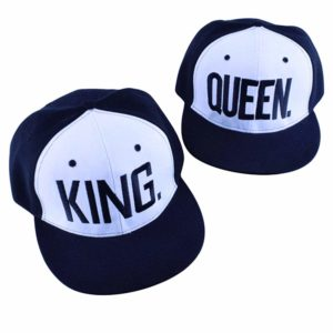 King Queen Hats Matching Snapbacks Hip Hop Hats Couples Snapback Caps Adjustable