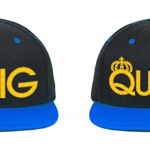 King & Queen, Couple Matching, Snapback Hats 9 Colors