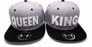 Matching Snapbacks/Baseball CAPS for Couples (King/Queen, Beauty/Beast, Bonnie/Clyde)