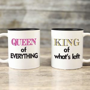 Personalized Mug - Set of Two - King & Queen
