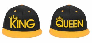 King & Queen, Couple Matching, Snapback Hats