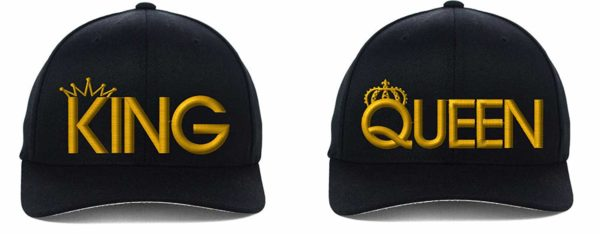 I-Mall King and Queen Flexfit, Fine Finished Embroideried 6 Color Hat