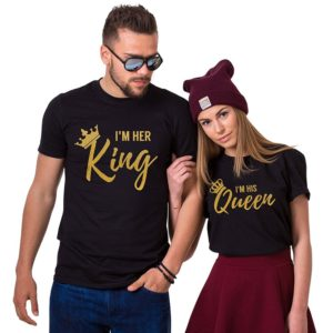 I'm Her King I'm His Queen Couples Matching T-Shirts