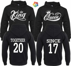 Arts & Designs King & Queen Together Since Couple Matching Hoodies Pull Over