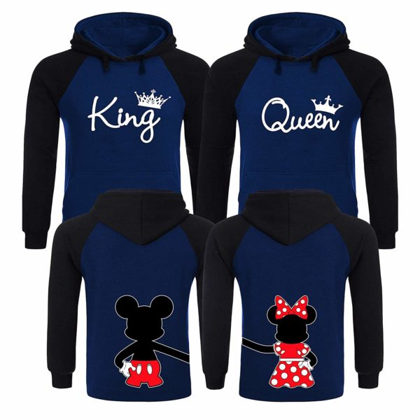 King and Queen Hoodies, Couples Christmas Sweaters, King and Queen Matching Hoodies for Couples