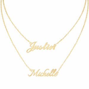 Custom4U Personalized Name Necklace Custom Made Pendant Jewelry Gift for Women